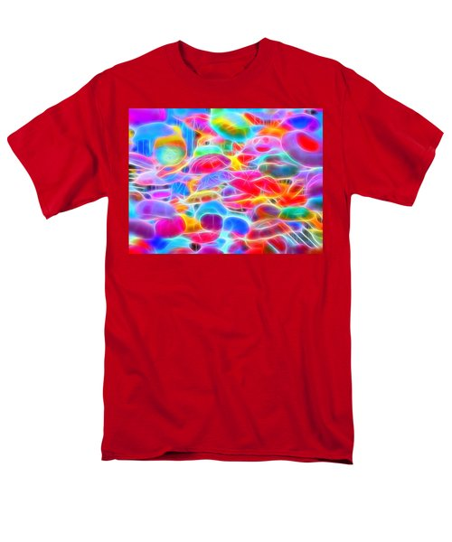 In Color Abstract 9 Men's T-Shirt  (Regular Fit) by Cathy Anderson