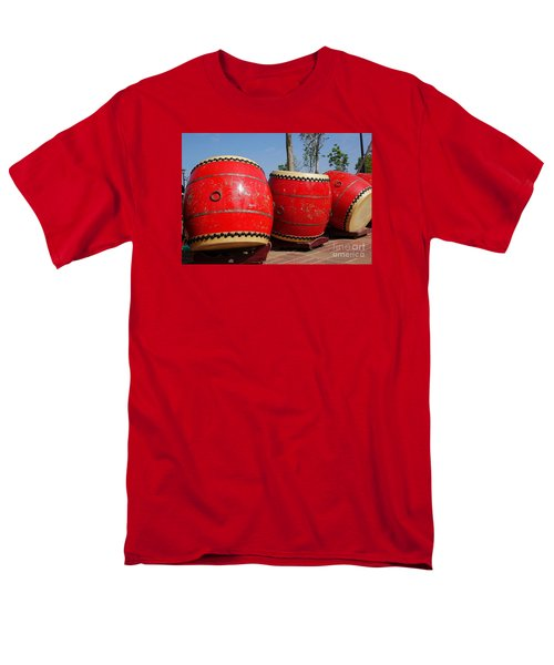 Large Chinese Drums Men's T-Shirt  (Regular Fit) by Yali Shi