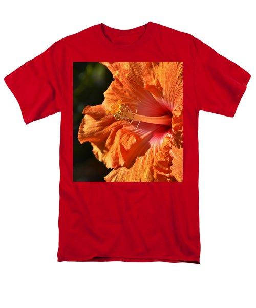 orange Hibiscus blossom Men's T-Shirt  (Regular Fit) by Werner Lehmann
