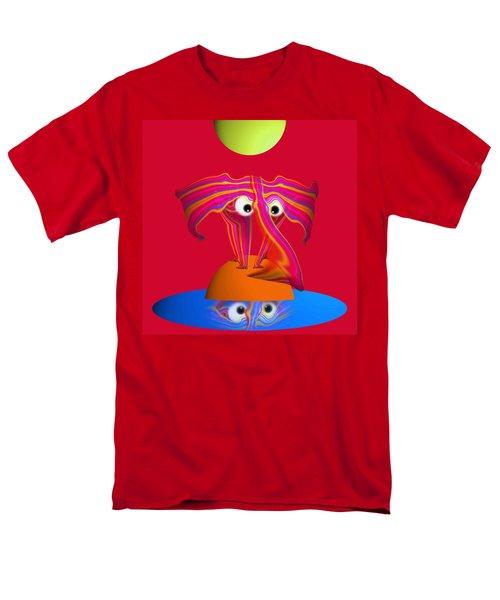 Pink Elephant Men's T-Shirt  (Regular Fit) by Charles Stuart