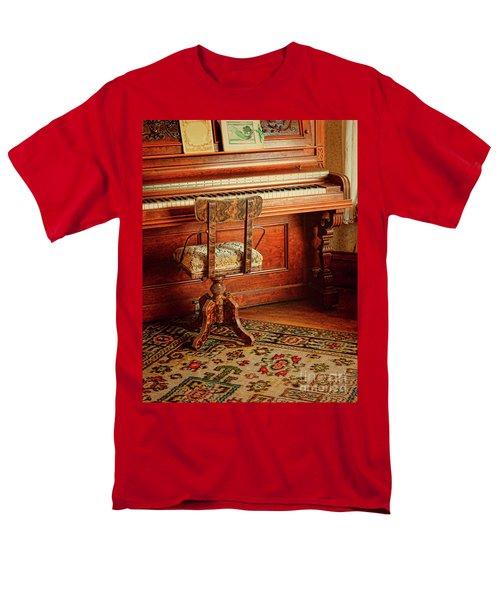Men's T-Shirt  (Regular Fit) featuring the photograph Vintage Piano by Jill Battaglia