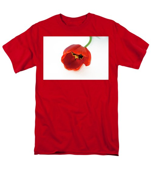 Red Tulip Men's T-Shirt  (Regular Fit) by Elvira Ladocki