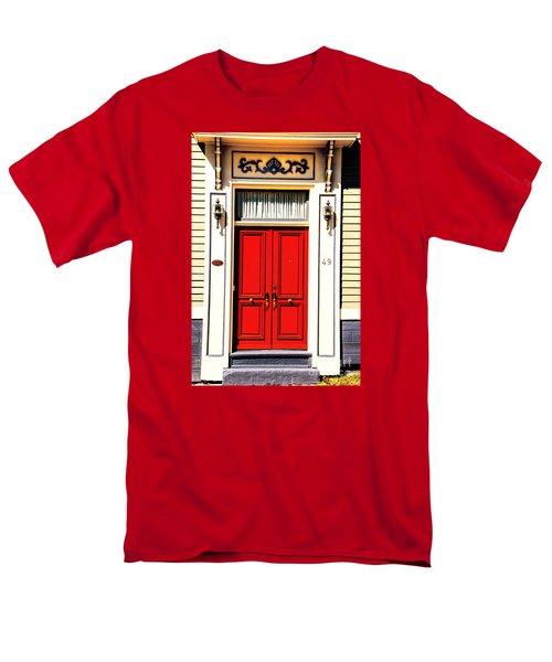 Men's T-Shirt  (Regular Fit) featuring the photograph Red Door by Rick Bragan