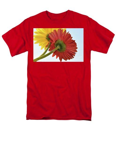 Red And Yellow Men's T-Shirt  (Regular Fit) by Elvira Ladocki
