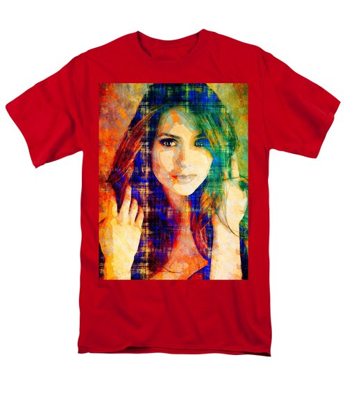 Nina Dobrev Men's T-Shirt  (Regular Fit) by Svelby Art