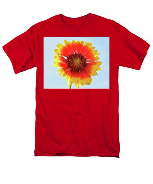 Men's T-Shirt  (Regular Fit) featuring the photograph Yellow Flower by Elvira Ladocki