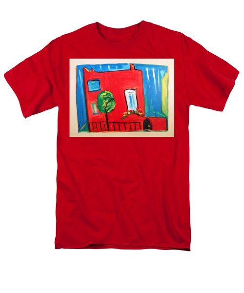Men's T-Shirt  (Regular Fit) featuring the painting A House With A Smile To Give by Mary Carol Williams