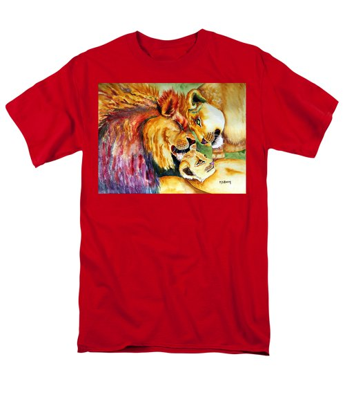 Men's T-Shirt  (Regular Fit) featuring the painting A Lion's Pride by Maria Barry