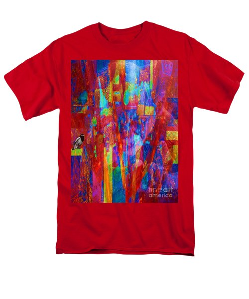 Men's T-Shirt  (Regular Fit) featuring the painting A Magpie At Wallstreet by Mojo Mendiola