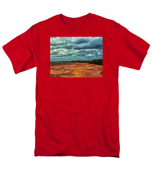 Men's T-Shirt  (Regular Fit) featuring the photograph A River Of Red Sand by Diana Mary Sharpton