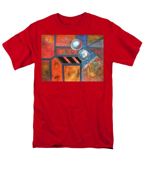 Men's T-Shirt  (Regular Fit) featuring the mixed media Abstract Autumn by Riana Van Staden