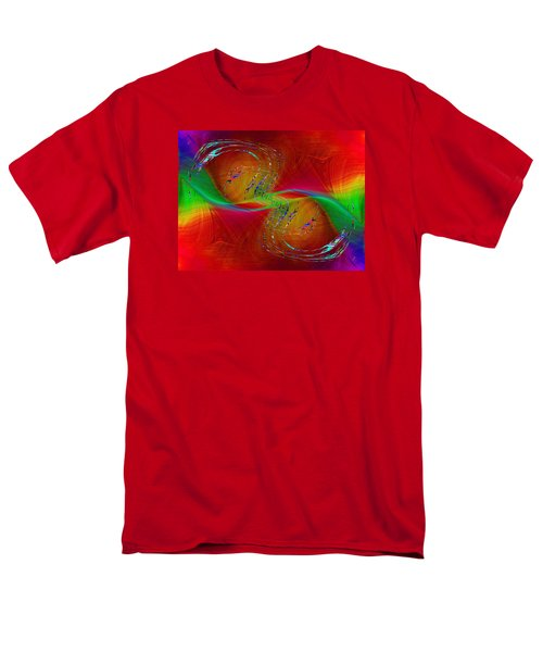 Men's T-Shirt  (Regular Fit) featuring the digital art Abstract Cubed 358 by Tim Allen
