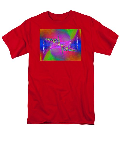 Men's T-Shirt  (Regular Fit) featuring the digital art Abstract Cubed 373 by Tim Allen