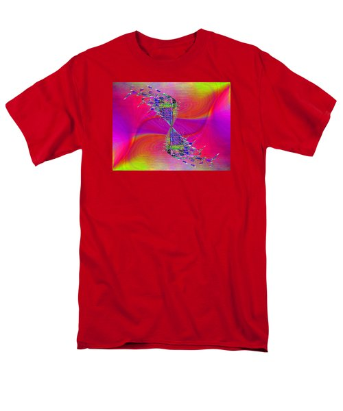 Men's T-Shirt  (Regular Fit) featuring the digital art Abstract Cubed 377 by Tim Allen