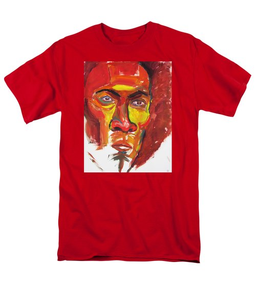 Men's T-Shirt  (Regular Fit) featuring the painting Afro by Shungaboy X