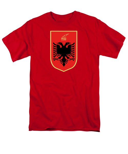 Men's T-Shirt  (Regular Fit) featuring the drawing Albania Coat Of Arms by Movie Poster Prints