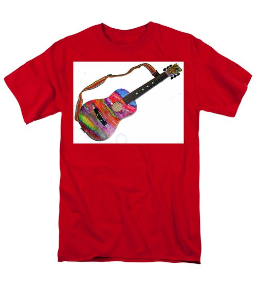 Alcohol Ink Guitar Men's T-Shirt  (Regular Fit) by Alene Sirott-Cope