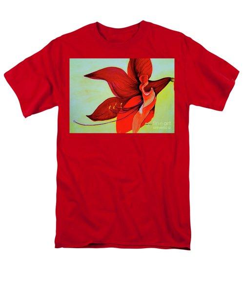 Amaryllis Blossom Men's T-Shirt  (Regular Fit) by Rachel Lowry