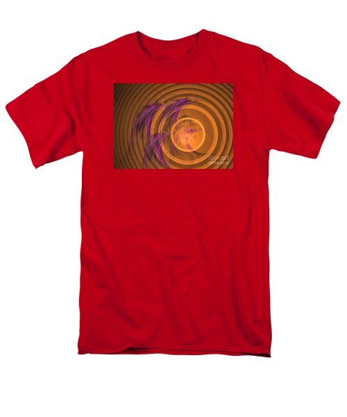 Men's T-Shirt  (Regular Fit) featuring the digital art An Echo From The Past - Abstract Art by Sipo Liimatainen