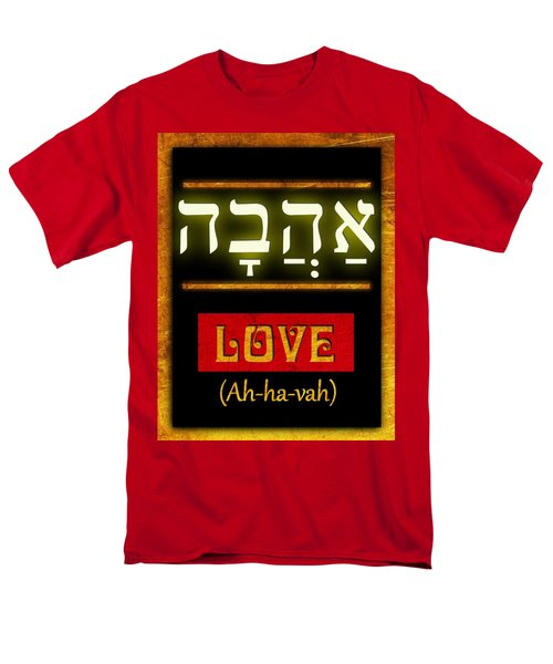 Men's T-Shirt  (Regular Fit) featuring the digital art Ancient Characters For Love by John Wills