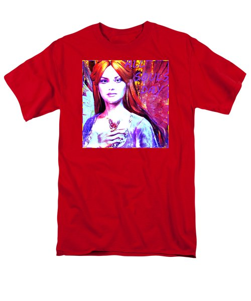 Men's T-Shirt  (Regular Fit) featuring the painting Angel For All Souls Day by Suzanne Silvir