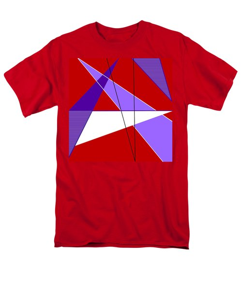 Angles And Triangles Men's T-Shirt  (Regular Fit) by Tara Hutton