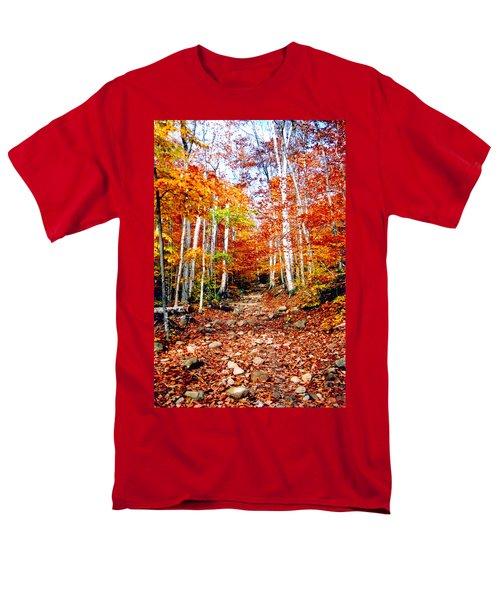 Arethusa Falls Trail Men's T-Shirt  (Regular Fit) by Greg Fortier