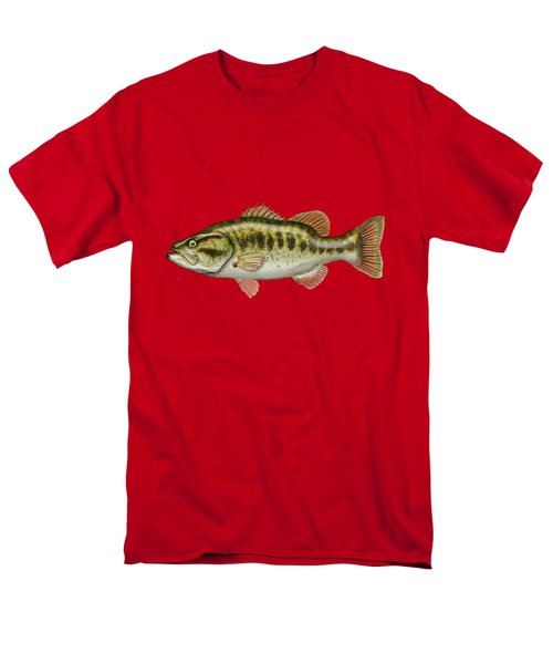 Largemouth Bass On Red Leather Men's T-Shirt  (Regular Fit) by Serge Averbukh