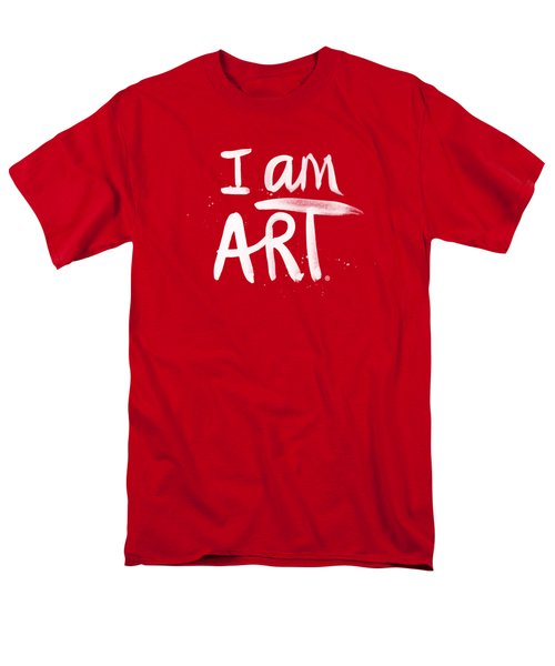 I Am Art- Painted Men's T-Shirt  (Regular Fit) by Linda Woods