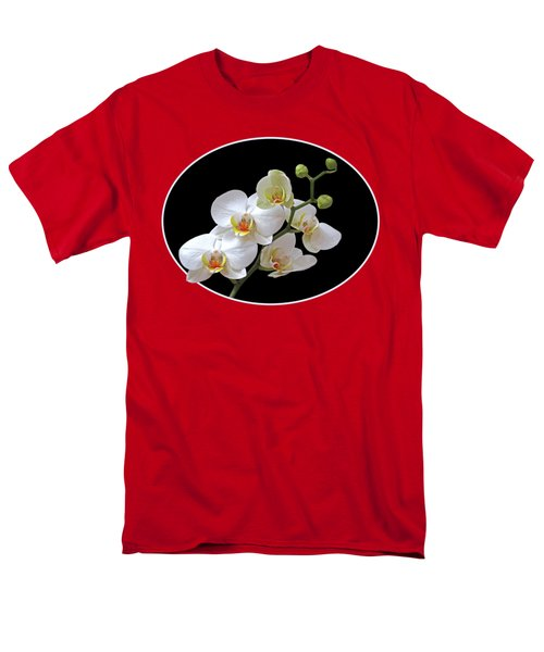 Orchids On Black And Red Men's T-Shirt  (Regular Fit) by Gill Billington