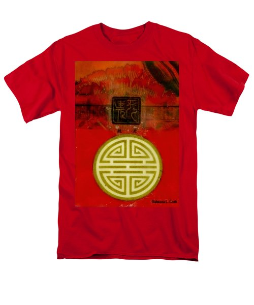 Asian Red Encaustic Men's T-Shirt  (Regular Fit) by Bellesouth Studio