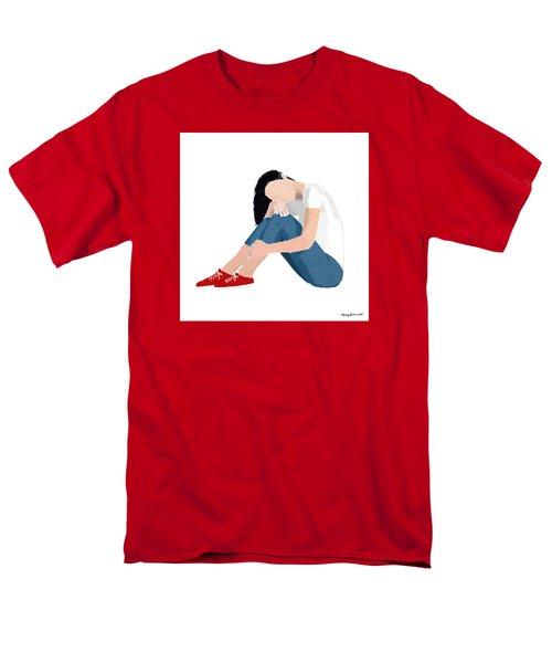 Men's T-Shirt  (Regular Fit) featuring the digital art Aubrey by Nancy Levan