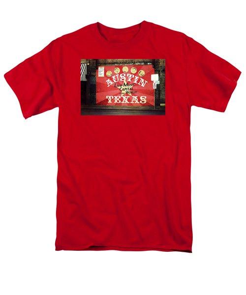 Austin Live Music Men's T-Shirt  (Regular Fit) by Trish Mistric