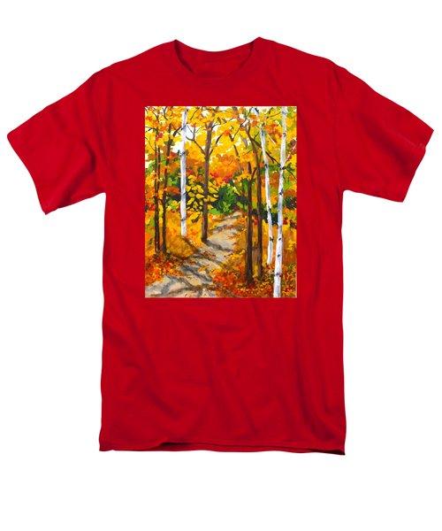 Autumn Forest Trail Men's T-Shirt  (Regular Fit) by Diane Arlitt