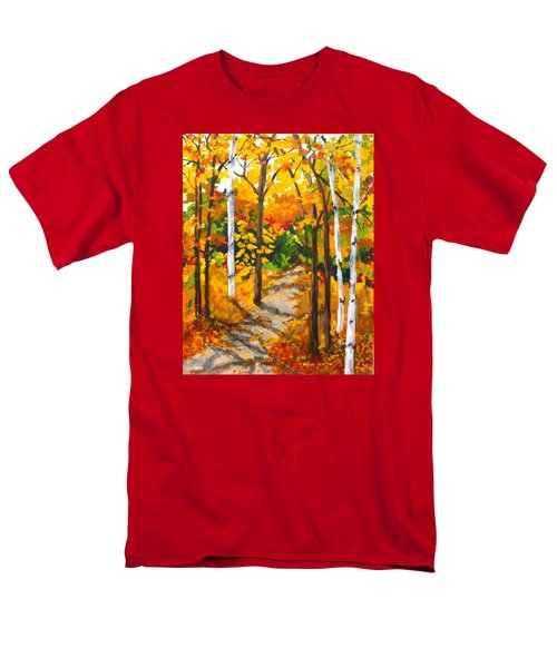 Autumn Forest Trail Men's T-Shirt  (Regular Fit)