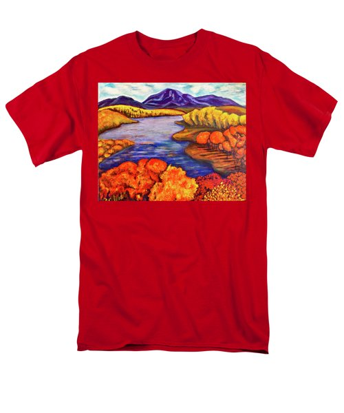 Men's T-Shirt  (Regular Fit) featuring the painting Autumn Hues by Rae Chichilnitsky