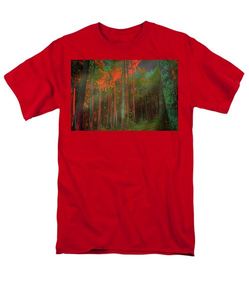 Men's T-Shirt  (Regular Fit) featuring the photograph Autumn In The Magic Forest by Mimulux patricia no No