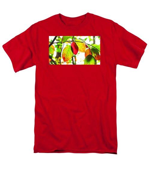 Autumn Leaves At Lake Padden Men's T-Shirt  (Regular Fit) by Karen Molenaar Terrell