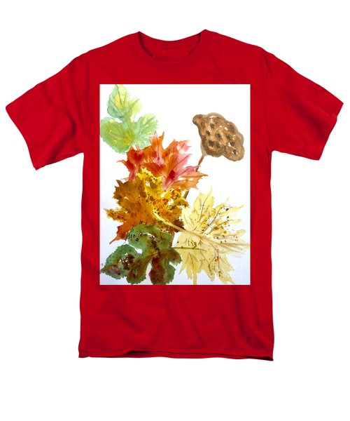 Autumn Leaves Still Life Men's T-Shirt  (Regular Fit) by Ellen Levinson