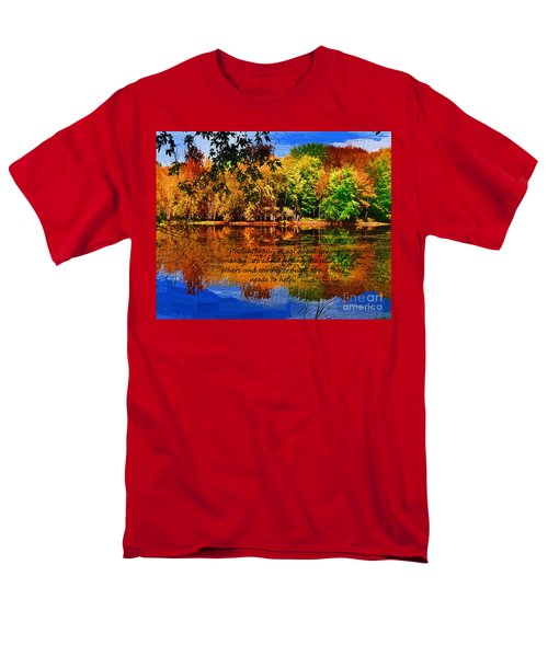Men's T-Shirt  (Regular Fit) featuring the painting Autumn Serenity Philanthropy Painted by Diane E Berry