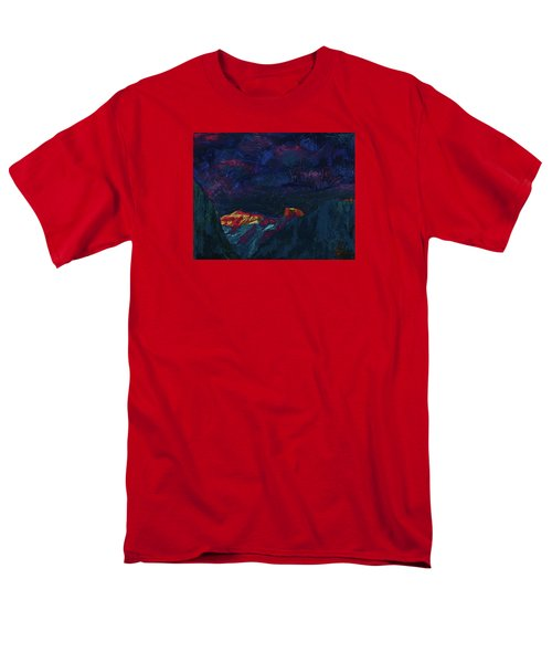 Autumn Sunset Over Half Dome 2013 B Men's T-Shirt  (Regular Fit) by Walter Fahmy