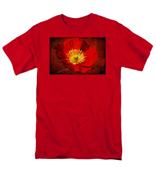 Men's T-Shirt  (Regular Fit) featuring the photograph Awake To Red by Phyllis Denton
