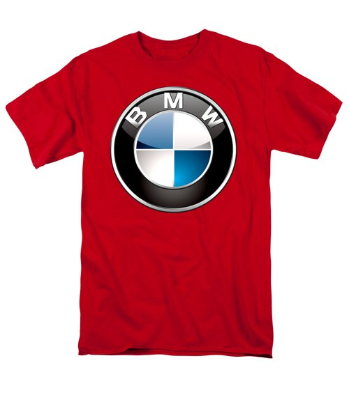 B M W Badge On Red  Men's T-Shirt  (Regular Fit) by Serge Averbukh