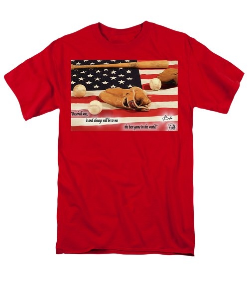 Babe Ruth Baseball Quote Men's T-Shirt  (Regular Fit) by Dan Sproul