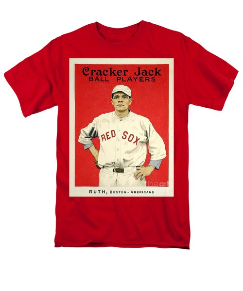Babe Ruth Cracker Jack Card Men's T-Shirt  (Regular Fit) by Jon Neidert