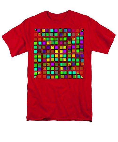 Colour Choice Squares 2 Men's T-Shirt  (Regular Fit) by Barbara Moignard