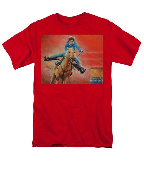 Barrel Racing Men's T-Shirt  (Regular Fit) by Jeanette French