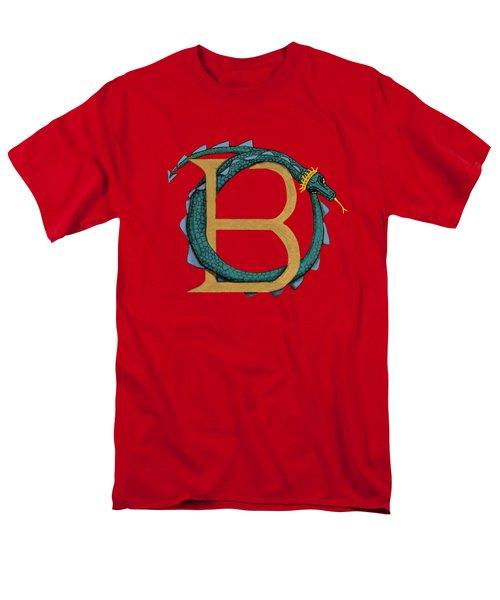 Basilisk Letter B Men's T-Shirt  (Regular Fit) by Donna Huntriss