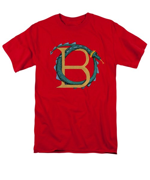 Basilisk Letter B Men's T-Shirt  (Regular Fit)