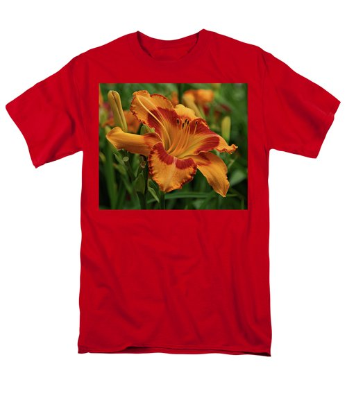 Men's T-Shirt  (Regular Fit) featuring the photograph Beautiful Daylily by Sandy Keeton